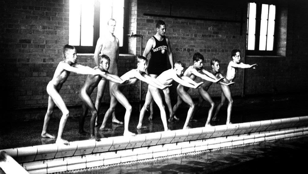 Schulklasse nackt